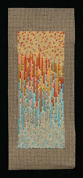 Blue Orange - 9x5 - cotton silk floss
