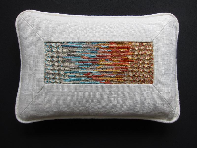 Blue Orange Pillowed-