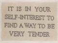 Jenny Holzer in Petit Point - 30x40 - wool floss