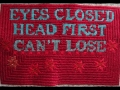 Eyes Closed Head First - 5x7 - cotton floss, canvas