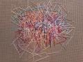 Pick Up Sticks - 13x13 - wool floss, canvas