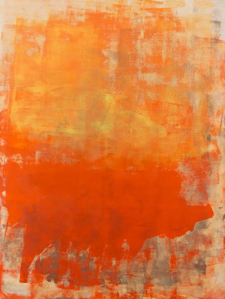 Orange Crush - 48x36 - acrylic on wood panel